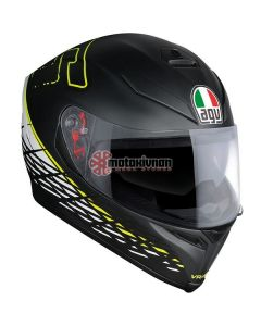 ΚΡΑΝΟΣ K5 S THORN 46 MATT BLACK / WHITE / YELLOW ΜΕ PINLOCK | AGV