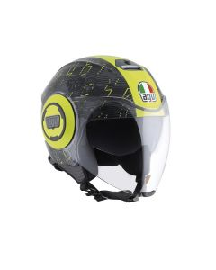 ΚΡΑΝΟΣ JET FLUID TOP IBISCUS GUNMETAL/YELLOW | AGV