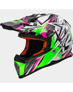 ΚΡΑΝΟΣ ΠΑΙΔΙΚΟ FAST MINI MX437J STRONG WHITE/GREEN/PINK | LS2