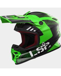 ΚΡΑΝΟΣ LIGHT EVO MX456 RALLIE GREEN/BLACK | LS2