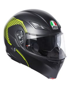 ΚΡΑΝΟΣ COMPACT ST MULTI VERMONT MATT BLACK/YELLOW ΜΕ PINLOCK | AGV