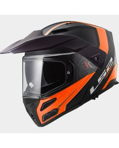 ΚΡΑΝΟΣ METRO EVO FF324 RAPID MATT BLACK / ORANGE | LS2