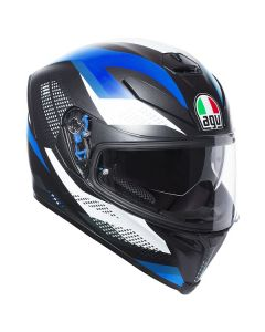 ΚΡΑΝΟΣ K5 S MARBLE MATT BLACK/WHITE/BLUE ΜΕ PINLOCK | AGV