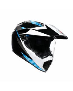 ΚΡΑΝΟΣ AX-9 DUAL NORTH BLACK / WHITE / CYAN | AGV