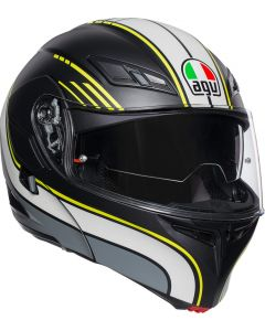 ΚΡΑΝΟΣ FLIP-UP COMPACT ST MULTI BOSTON MATT BLACK/GREY/YELLOW ΜΕ PINLOCK| AGV