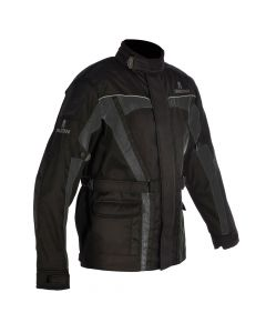 ΜΠΟΥΦΑΝ SPARTAN JACKET WATERPROOF BLACK / GREY J14B| OXFORD