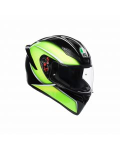 ΚΡΑΝΟΣ K1 QUALIFY BLACK / LIME | AGV
