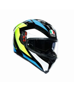 ΚΡΑΝΟΣ K5 S MULTI CORE BLACK/CYAN/YELLOW FLUO MPINLOCK | AGV