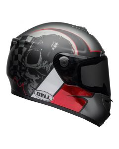 ΚΡΑΝΟΣ SRT HART LUCK GLOSS MATT CHARCOAL WHITE-RED SKULL| BELL