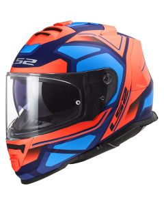 ΚΡΑΝΟΣ FF800 STORM FASTER MATT FLUO ORANGE BLUE| LS2