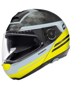 ΚΡΑΝΟΣ FLIP-UP C4 PRO CARBON TEMPEST YELLOW| SCHUBERTH