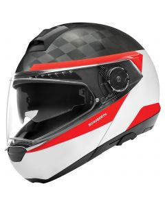 ΚΡΑΝΟΣ FLIP-UP C4 PRO CARBON DELTA WHITE| SCHUBERTH