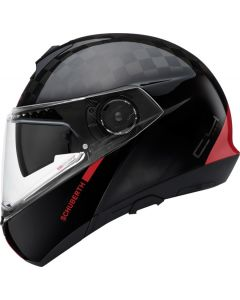 ΚΡΑΝΟΣ FLIP-UP C4 PRO CARBON FUSION RED| SCHUBERTH