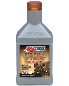 ΛΑΔΙ MCSQT SYNTHETIC SAE60 V-TWIN MOTORCYCLE OIL 946ML| AMSOIL