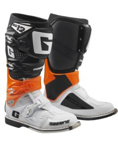 ΜΠΟΤΕΣ MX SG12 BLACK / ORANGE / WHITE| GAERNE