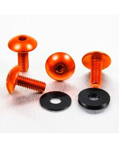 KIT ΒΙΔΕΣ ΠΙΝΑΚΙΔΑΣ   ALUMINIUM NUMBER PLATE KIT NPLATE30O ORANGE| PRO BOLT