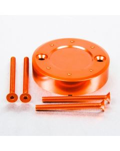 ΚΑΠΑΚΙ ΜΠΡΟΣΤΙΝΟΥ ΦΡΕΝΟΥ   ALUMINIUM RESERVOIR CAP ROUND FRONT BRAKE RESR60Z1O ORANGE| PRO BOLT