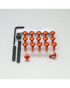 KIT ΒΙΔΕΣ ΠΛΑΤΥΚΕΦΑΛΕΣ   ALUMINIUM FAIRING KIT KTM 1290 SUPER ADVENTURE T FKTM90O ORANGE| PRO BOLT