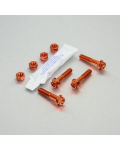 KIT ΒΙΔΕΣ ΕΞΑΓΩΝΕΣ   ALUMINIUM HAND GUARD MOUNT BOLT KIT ALHGMOUNT002O ORANGE| PRO BOLT