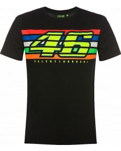 T-SHIRT STRIPES BLACK VRMTS350304| VR46