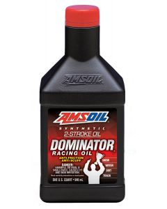 ΛΑΔΙ DOMINATOR TDRQT 2T SYNTHETIC TWO STROKE RACING OIL 946ML| AMSOIL
