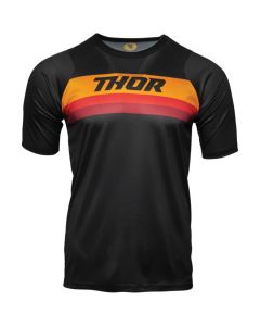 ΜΠΛΟΥΖΑ ASSIST SHORT SLEEVE BLACK/ORANGE JERSEY| THOR