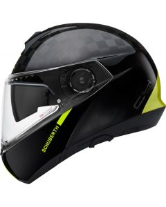 ΚΡΑΝΟΣ FLIP-UP C4 PRO CARBON FUSION YELLOW| SCHUBERTH