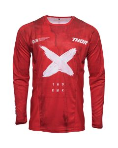 ΜΠΛΟΥΖΑ MX PULSE HZRD RED/WHITE JERSEY| THOR