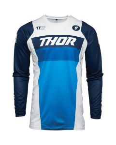 ΜΠΛΟΥΖΑ MX PULSE RACER WHITE/NAVY JERSEY| THOR