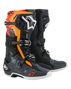 ΜΠΟΤΕΣ MX TECH 10 BOOTS BLACK / GRAY / ORANGE / RED FLUO 2010020-1143| ALPINESTARS