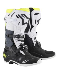 ΜΠΟΤΕΣ MX TECH 10 BOOTS BLACK/WHITE/YELLOW 2010020-125| ALPINESTARS