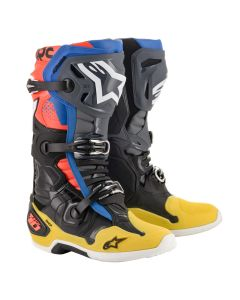 ΜΠΟΤΕΣ MX TECH 10 BOOTS BLACK/YELLOW/BLUE/RED FLUO 2010020-1573| ALPINESTARS