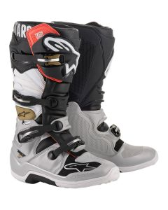 ΜΠΟΤΕΣ MX TECH 7 BOOTS BLACK/SILVER/WHITE/GOLD 2012014-1829| ALPINESTARS
