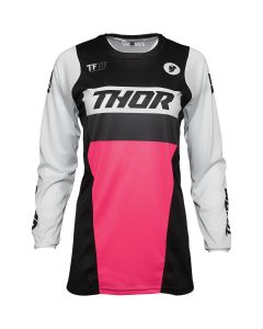 ΓΥΝΑΙΚΕΙΑ ΜΠΛΟΥΖΑ MX WOMEN'S PULSE RACER BLACK/PINK JERSEY| THOR