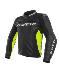 ΔΕΡΜΑΤΙΝΟ ΜΠΟΥΦΑΝ RACING 3 LEATHER BLACK / BLACK / FLUO YELLOW 201533788| DAINESE