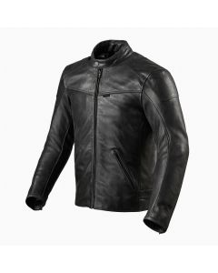 ΔΕΡΜΑΤΙΝΟ ΜΠΟΥΦΑΝ SHERWOOD LEATHER JACKET BLACK FJL107| REV'IT