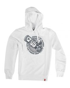 HOODIE FELPA MECHANISM WHITE / GREY| DAINESE