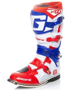 ΜΠΟΤΕΣ MX SG12 WHITE/BLUE/RED 2174-052 | GAERNE