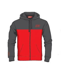 HOODIE 93 MARQUEZ RED / ANTHRACITE GREY 2023008| MARC MARQUEZ