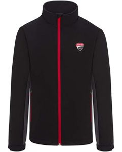 JACKET COAT SOFTSHELL BLACK / ANTHRACITE GREY 1966002 | DUCATI RACING COLLECTION