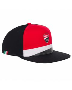 ΚΑΠΕΛΟ FLAT CAP BLACK / RED / WHITE 2046006 | DUCATI RACING COLLECTION