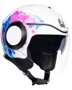 ΚΡΑΝΟΣ JET ORBYT MAYFAIR WHITE/ PURPLE| AGV