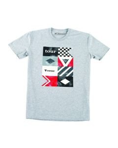T-SHIRT TOUR GREY / MELANGE| DAINESE