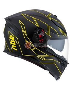 ΚΡΑΝΟΣ K5 S HERO BLACK / FLUO YELLOW ΜΕ PINLOCK | AGV