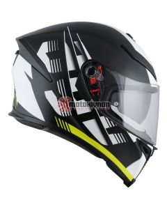 ΚΡΑΝΟΣ K5 S DARKSTORM MATT BLACK / YELLOW ΜΕ PINLOCK | AGV
