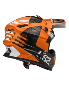 ΚΡΑΝΟΣ LIGHT EVO MX456 RALLIE ORANGE/BLACK | LS2