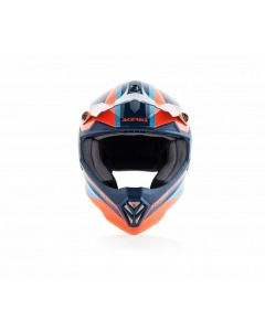 ΠΑΙΔΙΚΟ ΚΡΑΝΟΣ MX STEEL JUNIOR HELMET ORANGE/BLUE 23425.204 | ACERBIS