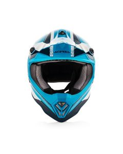 ΠΑΙΔΙΚΟ ΚΡΑΝΟΣ MX STEEL JUNIOR HELMET BLUE/WHITE 23425.245 | ACERBIS