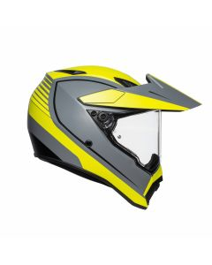 ΚΡΑΝΟΣ AX-9 DUAL PACIFIC ROAD MATT GREY / YELLOW FLUO / BLACK | AGV
