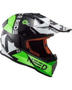 ΚΡΑΝΟΣ FAST MX437 BLOCK BLACK / GREEN | LS2